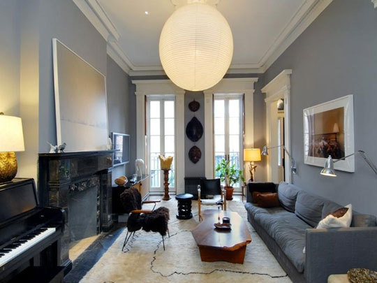 Julianne Moore West Village Townhouse Living Room Design