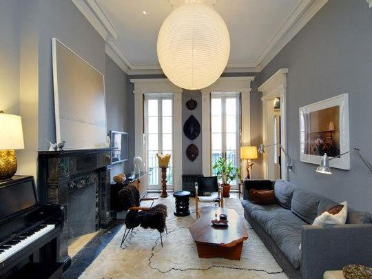 Julianne Moore West Village Townhouse Living Room Design